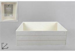 BOX LEGNO ALTO BIANCO 32X40