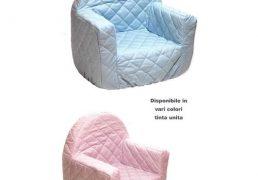 Poltroncina Baby Tessuto 100% Cotone     Imbottitura Poliuretano Espanso 47x46cm