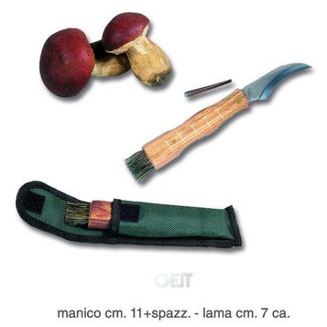 Coltello Per Funghi C/spazzola E Fodero