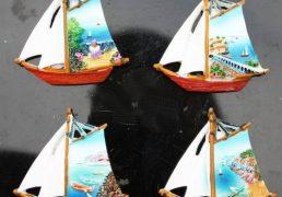 Magnete Resina Barca C/veduta Ass.