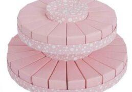 Torta 24+18+1 Pois 2piani Rosa D38 H19