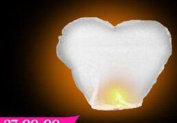 Lanterna Volante Cuore Bianca