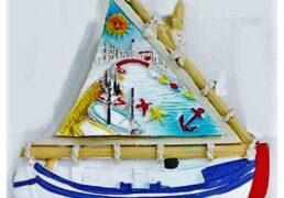 Magnete Resina Barca Bianca C/ved. Ponte 7