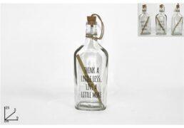 Bottiglia Vetro C/messaggio 25cm