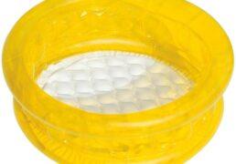 Piscina Baby Con Fondo Gonf. D.64xh.25cm 3 Colori Ass.blu Giallo Arancione
