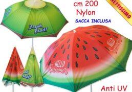 Ombrellone Nylon D. 200cm 2mdl - Fruits