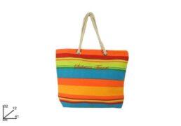 Borsa Canvas C/manico Corda Fant. Fasce  Multicolor Sl1609-28m