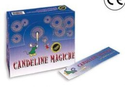 100 pezzi Candela Magica 17.5cm 10pz  C.100        In Busta  Effetto Scintille Oro