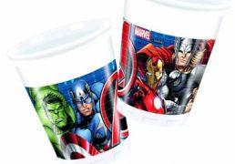 Bicchieri Plastica Avengers 200ml 8pz