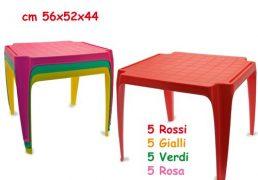 Tavolo In Plastica 4 Colori Asst.