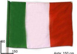 Bandiera Italia C/asta Cm.90x150